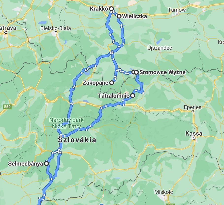Kis Lengeyelország lakóautós túra térkép